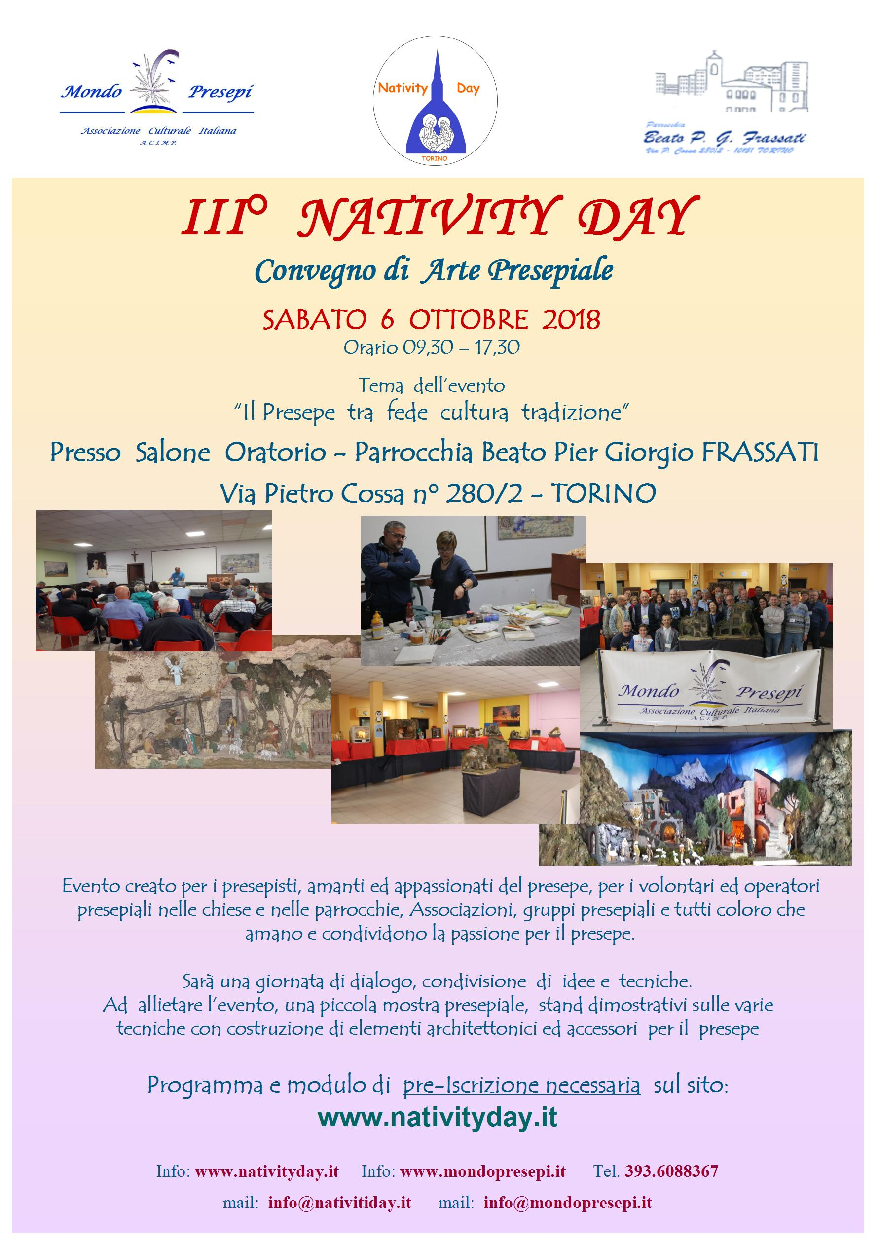 NativityDay 6 Ottobre 2018 - Torino - Iscriviti  !!