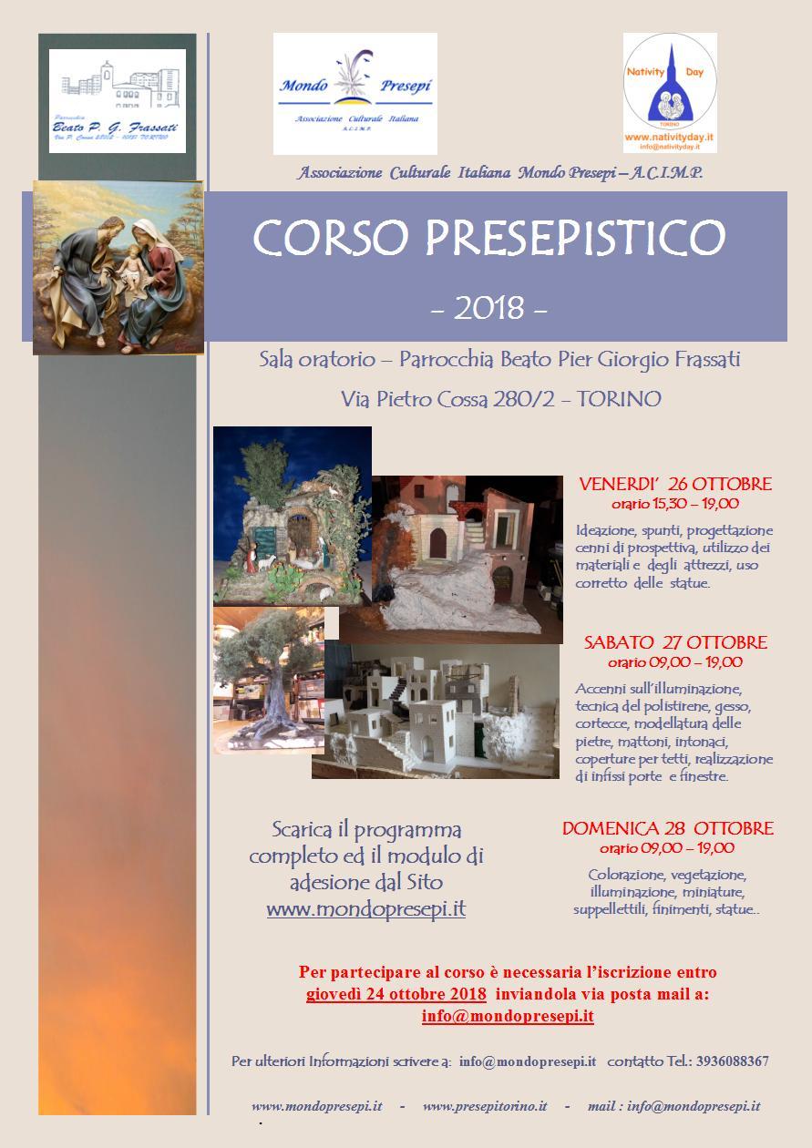 Corso Presepistico 26-27-28 Ottobre 2018