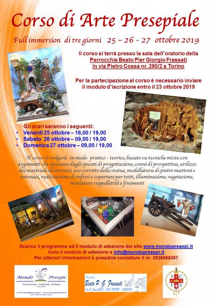 Corso di Arte Presepiale Torino 25-26-27 Ottobre 2019 Parrocchia Beato P.G. Frassati