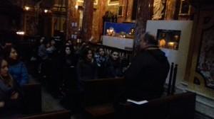La classe 4G del liceo passoni si è recata presso la Storica Chiesa dei SS.Martiri organizzata dall'associazione Mondopresepi
